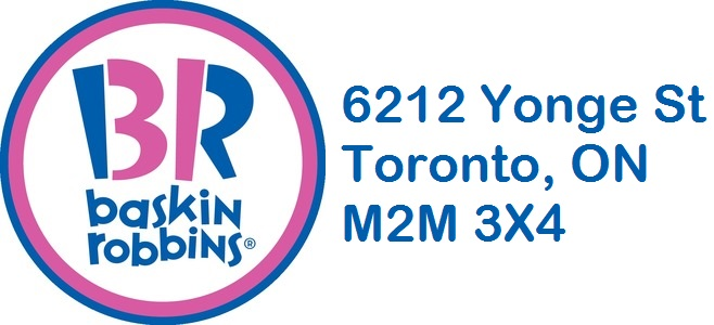 Baskin Robbins at 6212 Yonge Street in Toronto